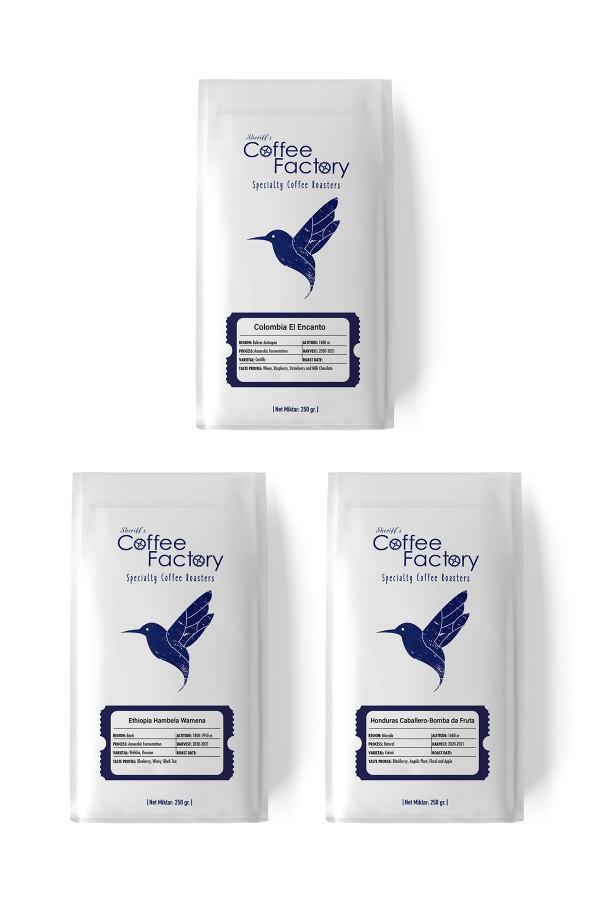 3 x 100 gr Nordic Kahveleri Tadim Paketi